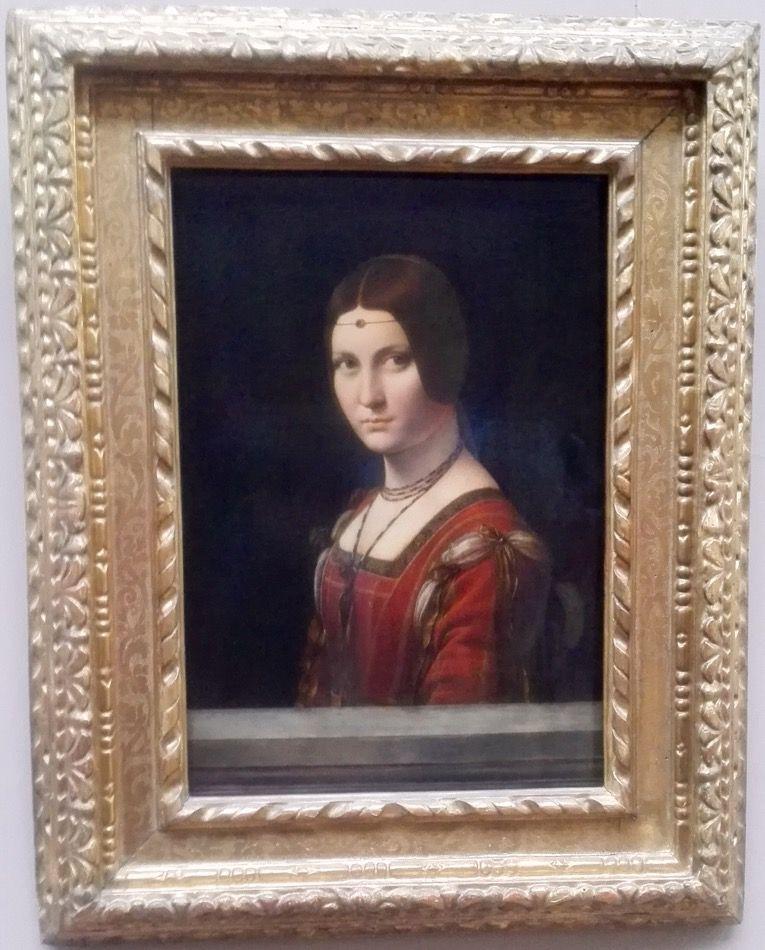 La Belle Ferronière De Leonardo Da Vinci Pintado Entre El 1490 1495 óleo Sobre Tabla 62 X 44 Cm La Belle Ferroniere Fue Una De Las Painting Art Artwork