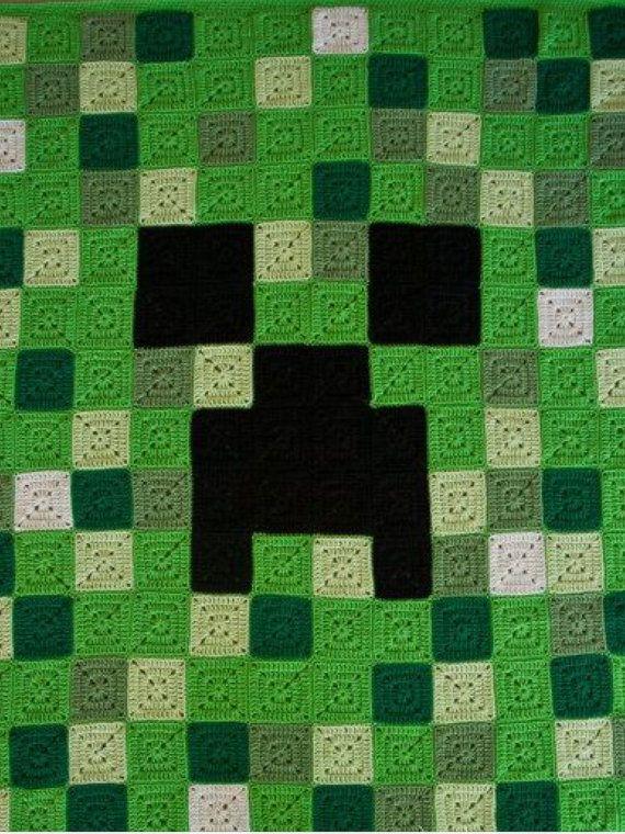 Minecraft Afghan | Crochet | Pinterest | Frazada, Manta y Mandalas