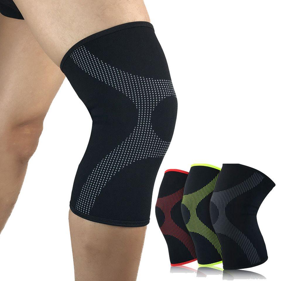 1pcs Basketball Knee Pads Adult Football Brace Support Leg Sleeve Kneepad Protector Calf Snowboard