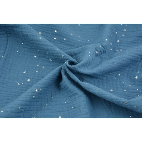 Gold Silver Fashion DOUBLE GAUZE 100/% Cotton Fabric Dressmaking OEKO-TEX