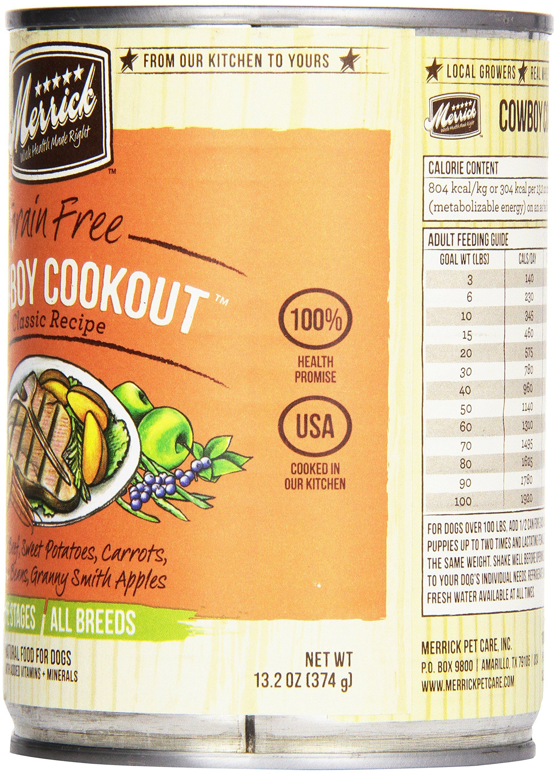 Merrick canned dog food 5star cowboy cookout 132 oz