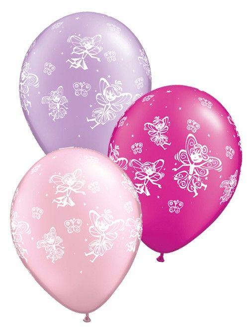 Fairies & Butterflies Latex Balloons 25pk