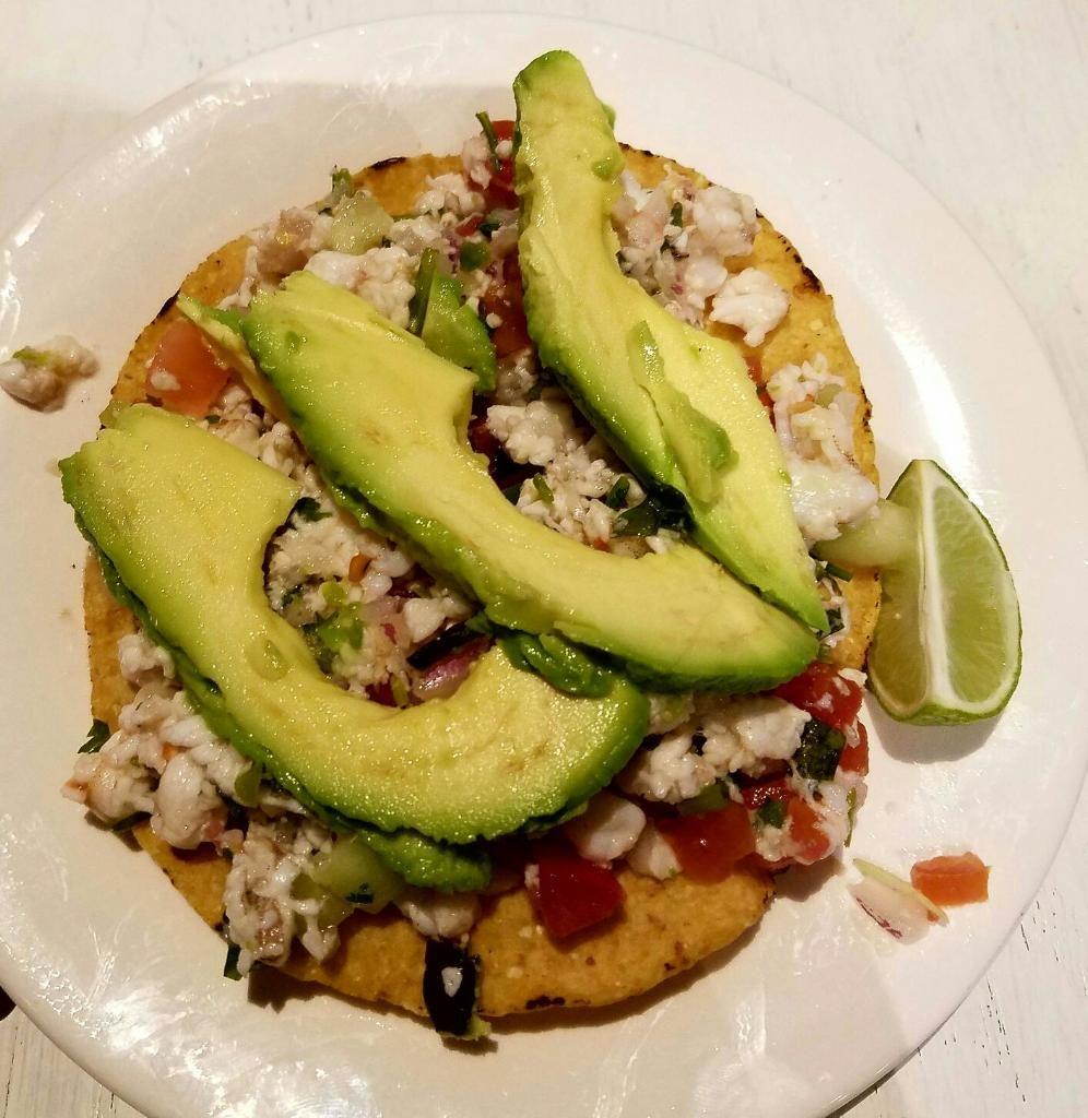 Ceviche Tostada from Papa Juan's Baja Grill in San Fernando, CA