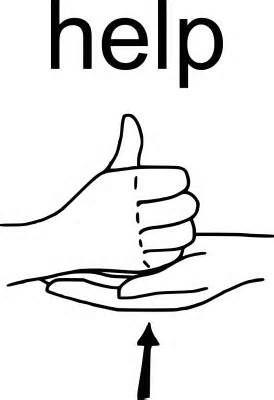 sign language asl word of the week help signing pinterest