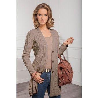 tricot modele gratuit gilet femme