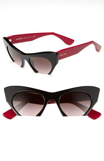 5ccc5b5f4e1a Miu Miu 50mm Cat s Eye Sunglasses