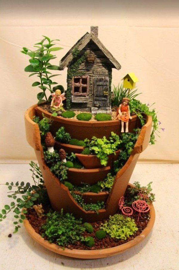 12 ideas originales para crear un jard n de hadas mini - Ideas para un jardin ...