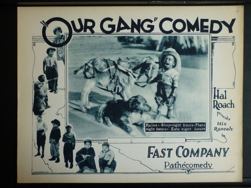1924 our gang lobby card in exc cond rare silent early