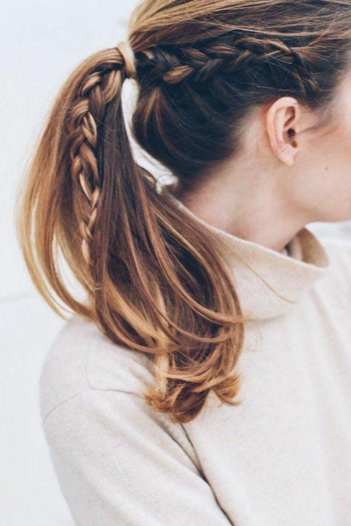 Tresse 2017 cheveux balayage, coiffure mi long 2016 avec
