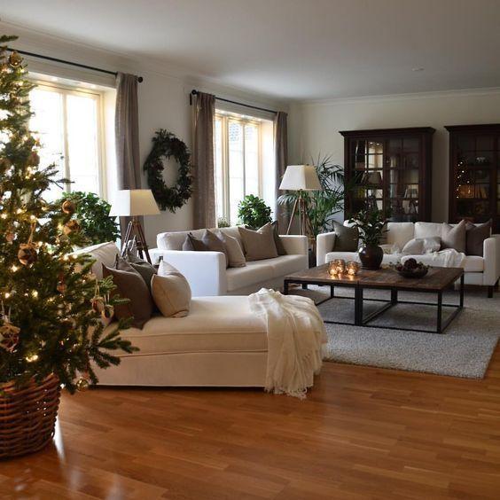 60 Scandinavian Christmas Home Decor, Christmas Tree and