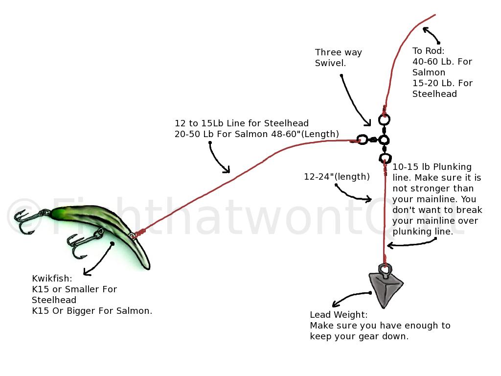 Steelhead rigs google search fishing pinterest for Salmon fishing rigs