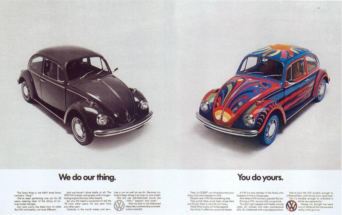 anuncios vintage para celebrar el 75º aniversario de Volkswagen