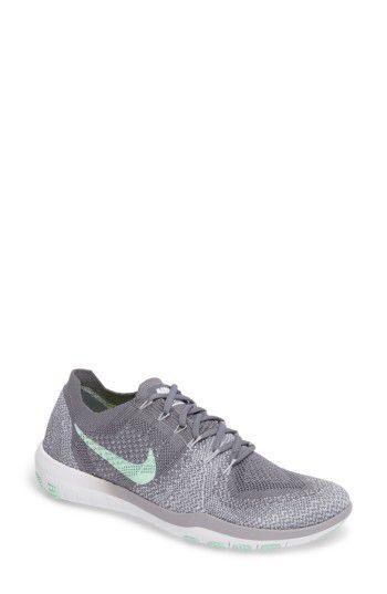 Nike Women Women'S Nike Free Focus Flyknit Training (white black wolf grey)