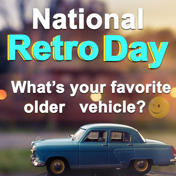 It's National Retro Day, tell us your favorite car from