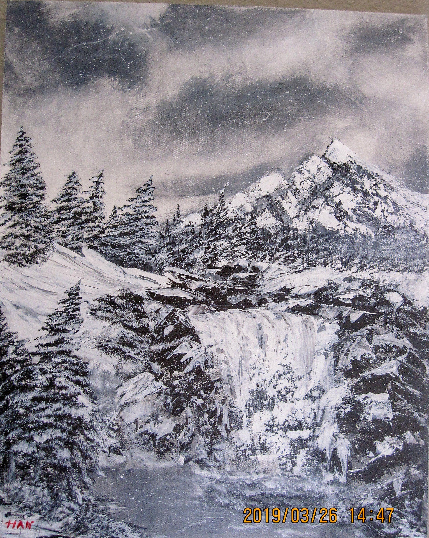 Original Acrylic Paintingwinter Etsy Winter Landscape Landscape Scenery Original Landscape