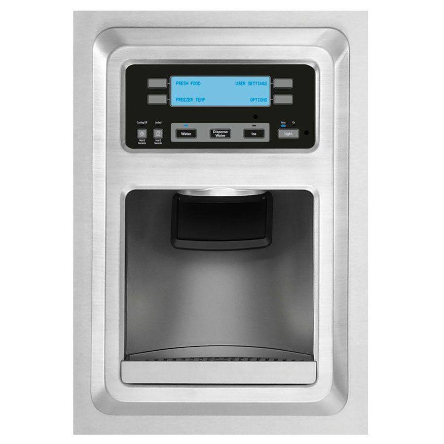 Kitchenaid Microhood shop kitchenaid 19.72-cu ft counter-depth french door refrigerator