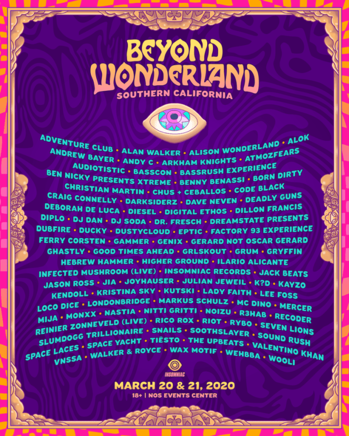 Beyond Wonderland Reveals 2020 Lineup Grub Tickets Now In 2020 Beyond Wonderland Festival Electronic Dance Festival