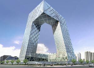 Edificio Television China  por arquitecto Rem Koolhass