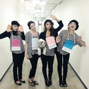 Mime costume  sc 1 st  Pinterest & Pantone-Mimes | 21 Clever Halloween Costumes For Lazy Groups ...