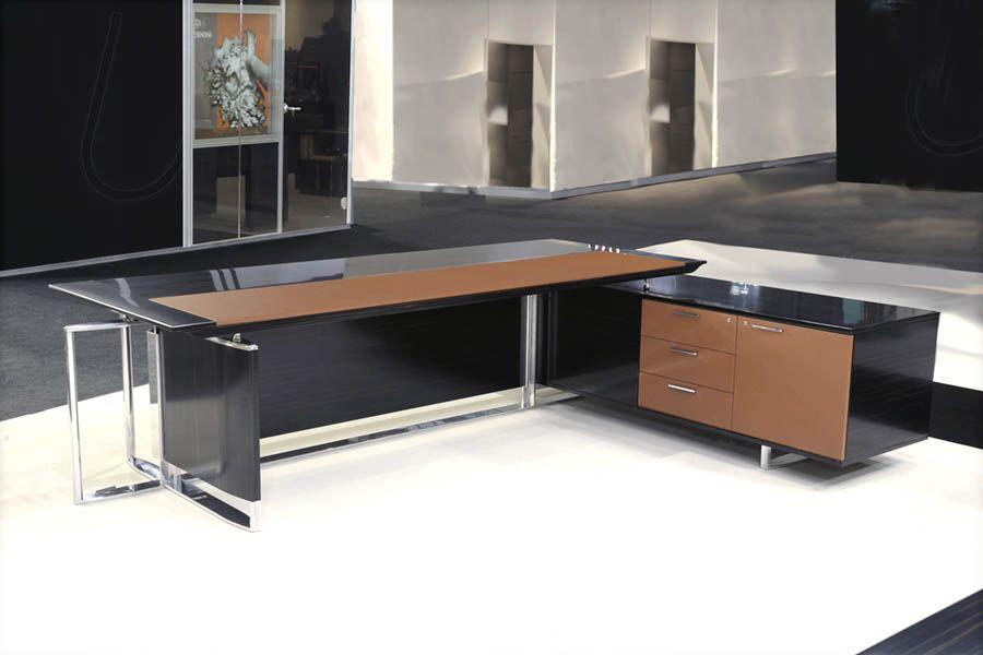 bernini executive desk by ora acciaio designer luca scacchetti - Designer Executive Desks