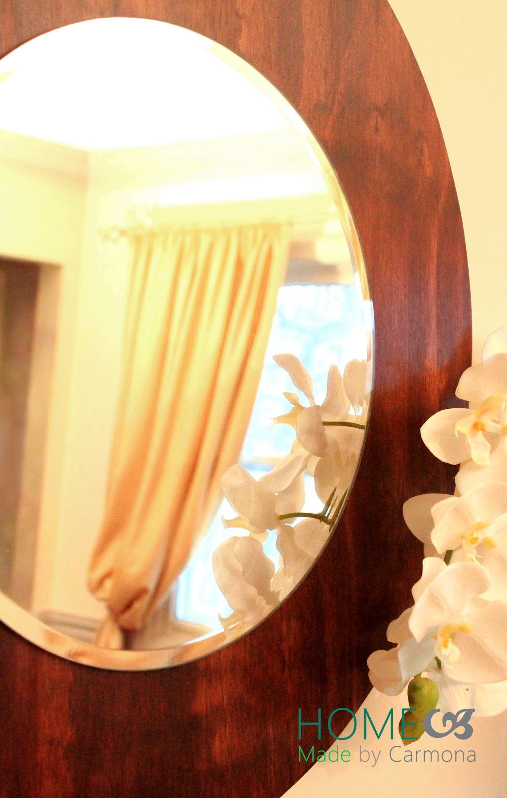 Make a simple mirror from plywood for a touch of something rustic ...
