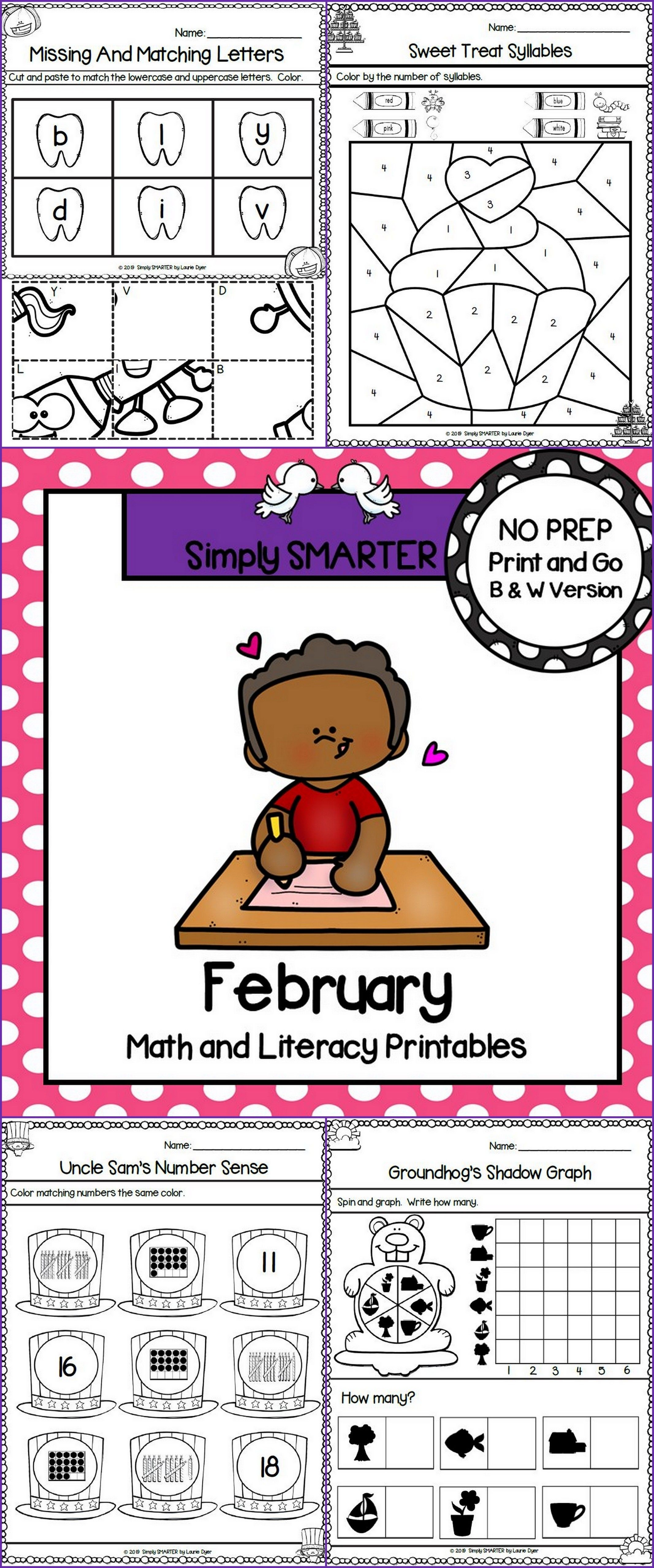 February Math And Literacy Printables And Activities For