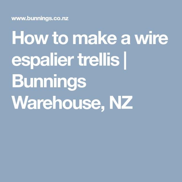 How to make a wire espalier trellis | Bunnings Warehouse, NZ ...