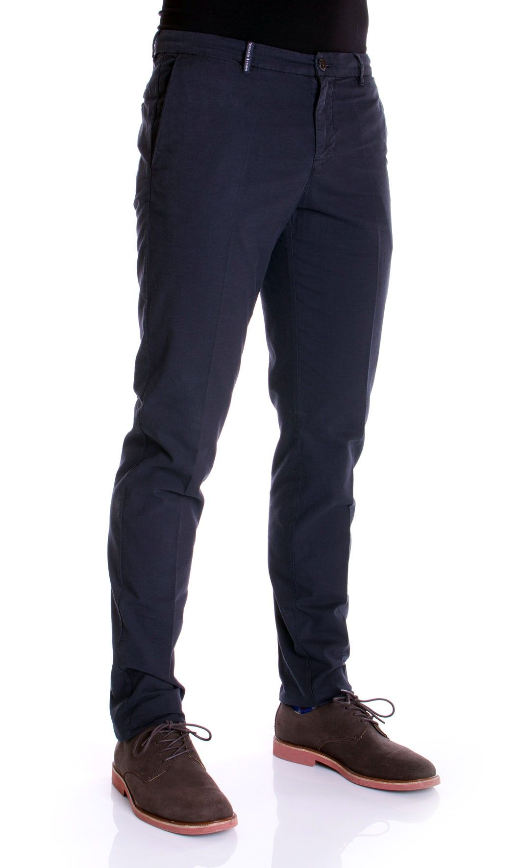 Trussardi Jeans | Pantaloni TRUSSARDI JEANS Uomo Aviator Fit Gabardine stretch Col.Blu Navy su Dursoboutique.com 52P01ZB