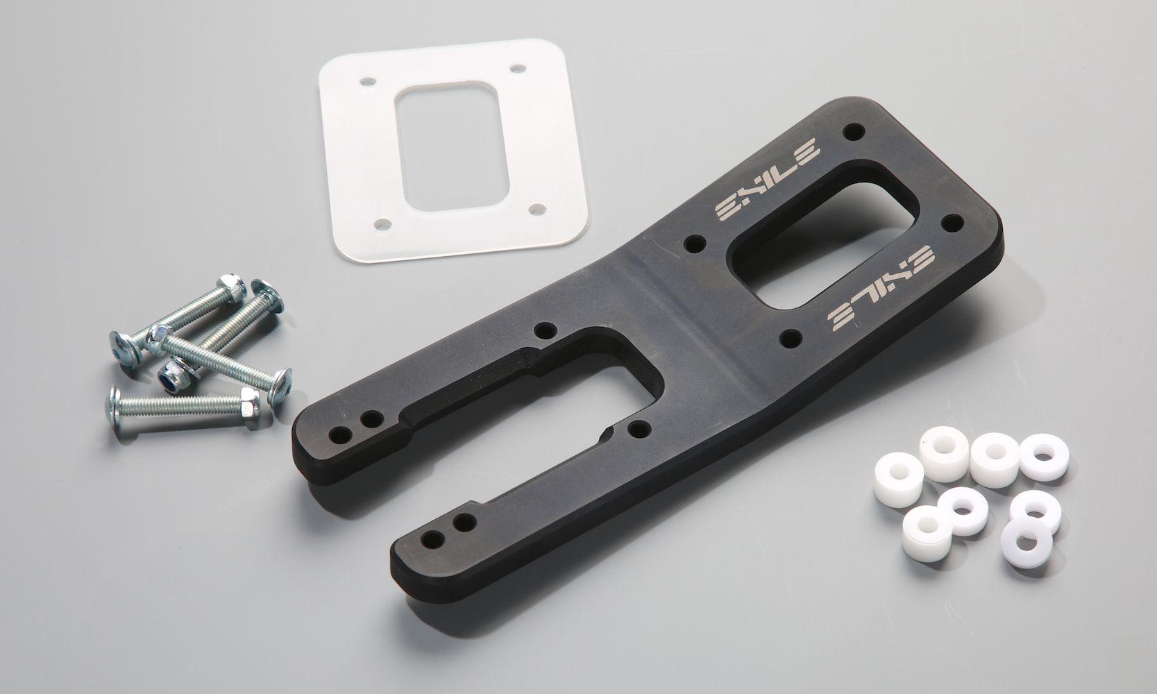 EXILE 13º Bracket - CNC machined fork for LDP platforms. Pumping AND psuhing the easy way! #longdistanceskating #bracket #platform #EXILE MFG