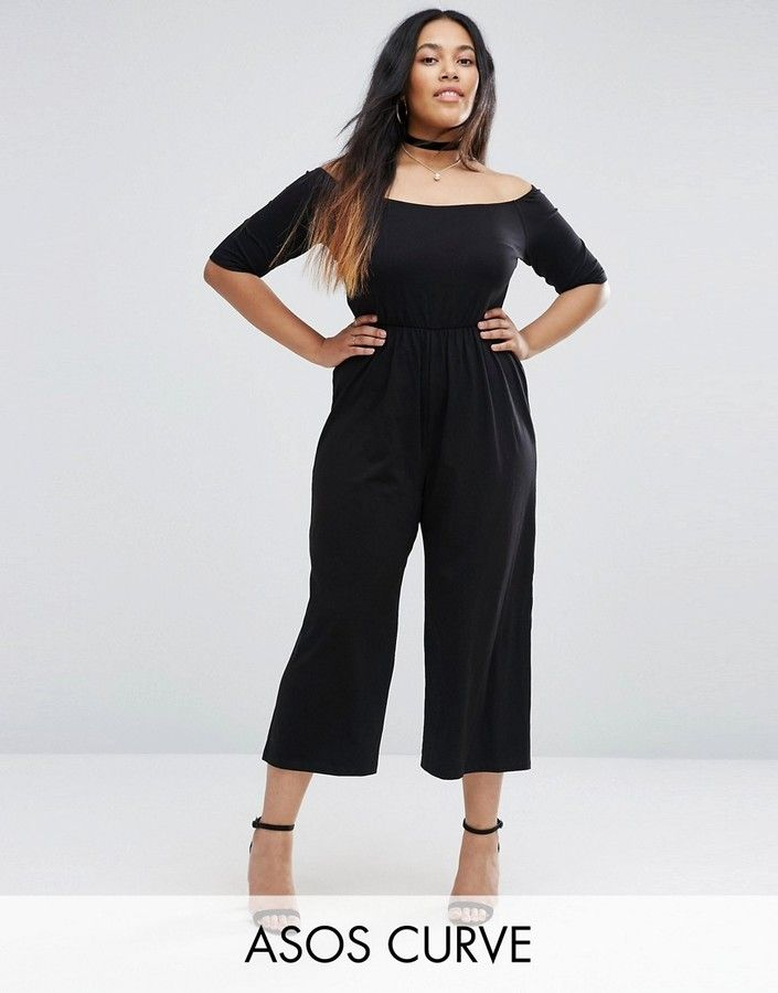 2440d705f1b ASOS Curve ASOS CURVE Bardot Jumpsuit With Crop Wide Leg     Visit the  image link more details.
