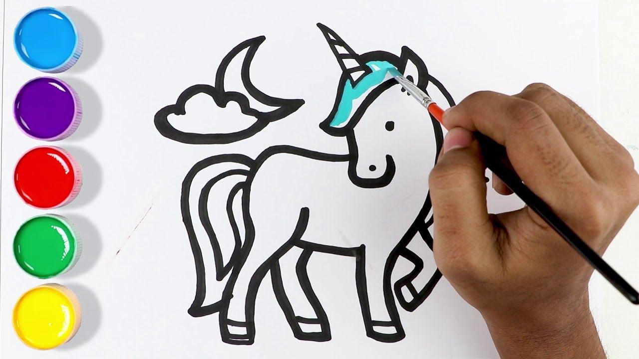 How To Draw Unicorn Unicorn Coloring Tutorial Coloring Page For Kids Unicorn Drawing Coloring Tutorial Coloring Pages For Kids