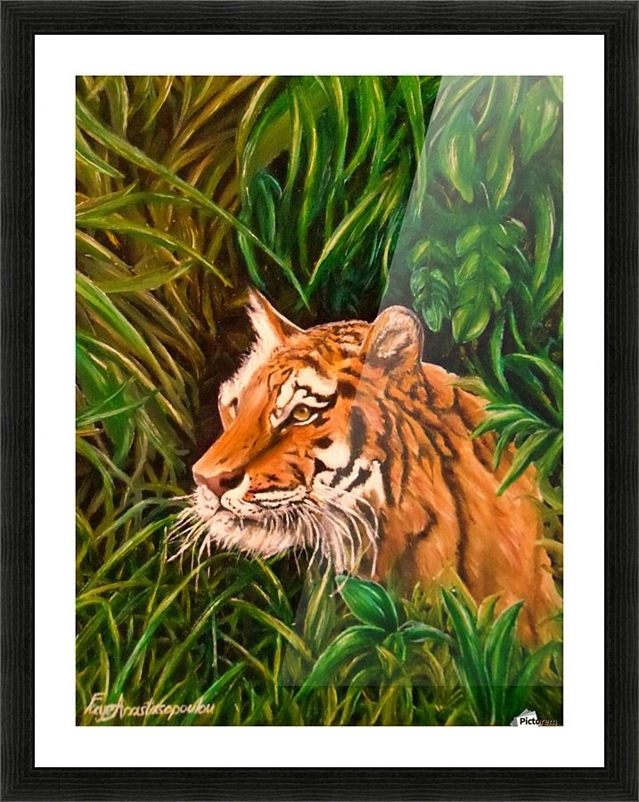 Wild Presence Faye Anastasopoulou Canvas Artwork Framed Art Prints Canvas Artwork Jungle Scene