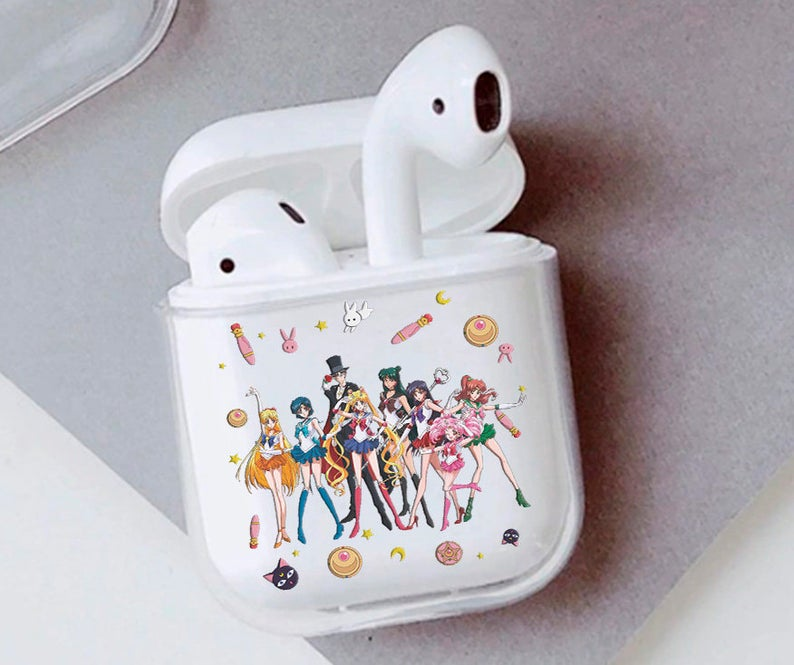 Anime Heroes Airpods Case With Girls Cute Clear Smooth Pc Etsy In 2021 Case Cover Case Airpod Case