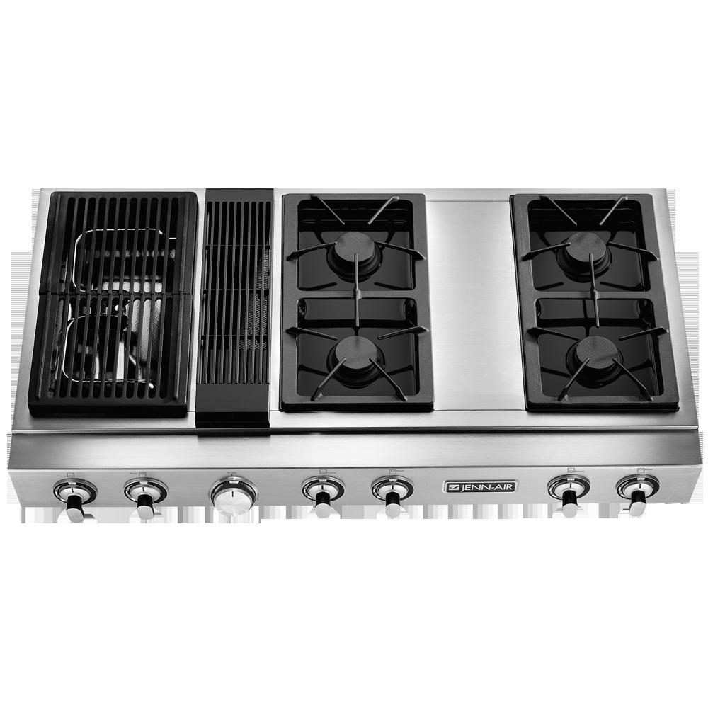 Pro Style Modular Gas Downdraft Rangetop 48 Jenn Air Modular Gas Downdraft Rangetop Allows You To Rec Kitchen Cooktop Downdraft Cooktop Canning Kitchen