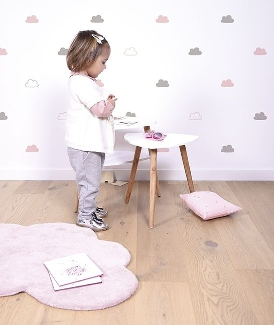 Vinilo nubes rosas y grises original para decorar for Habitacion infantil original