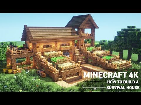 Minecraft Large Oak Survival Base Tutorial How To Build A Survival House In Minecraft 108 Vozeli Com