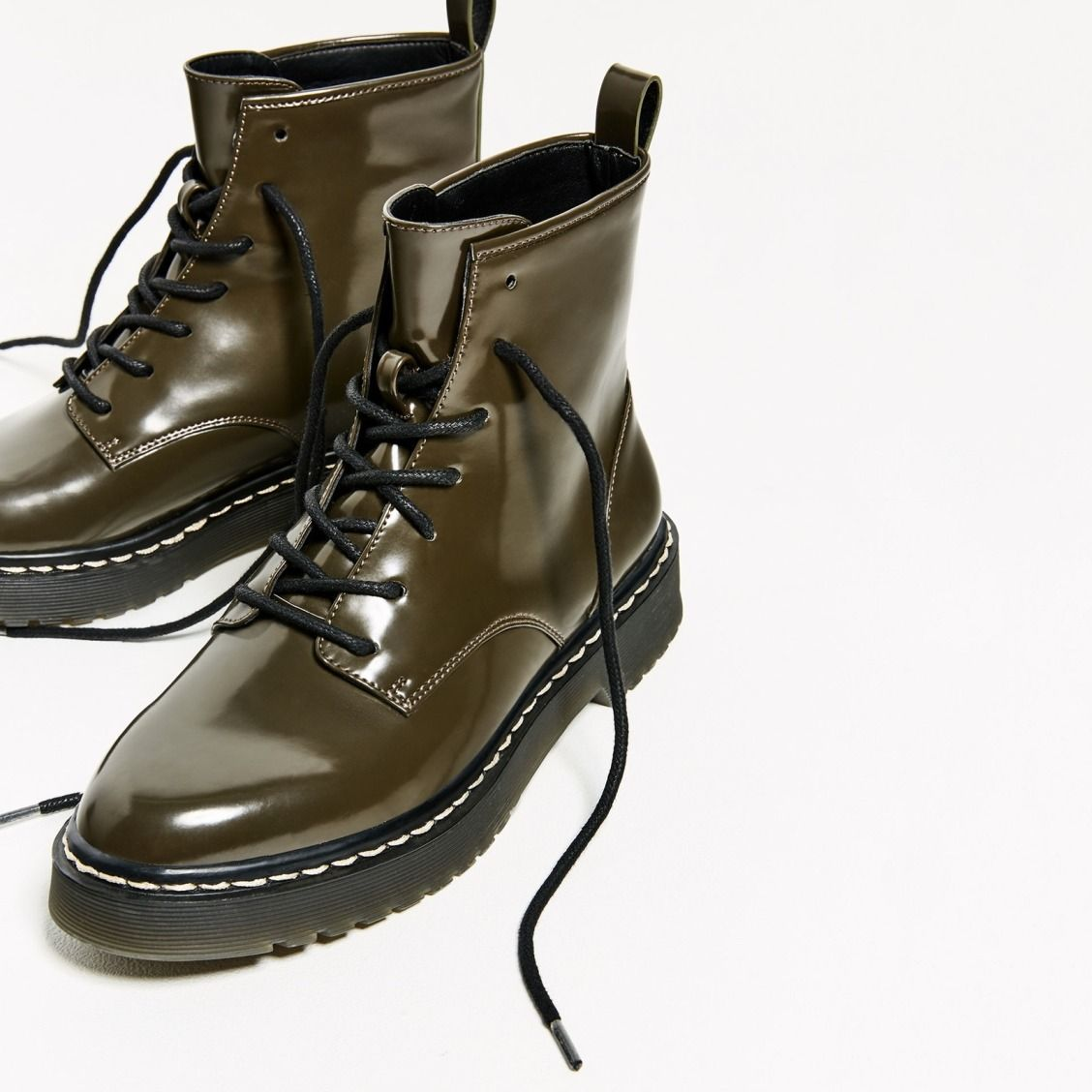 Love these military ankle boots.