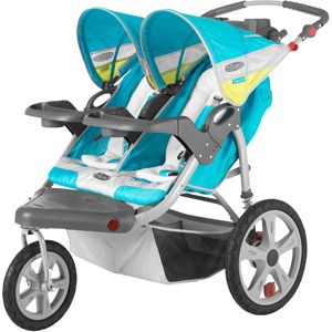 InStep Grand Safari Double Jogging Stroller Robins Egg With Citrondifferent Color If Possible Will Fit Carseat W Adapter