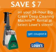 7 Off A Bissell Rental At Lowes Consumerqueen Com Oklahoma S Coupon Queen Bissell Big Green Green Carpet Cleaning Lowes Carpet