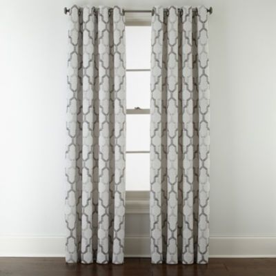 Buy Studio™ Casey Jacquard Grommet Top Curtain Panel Today At Jcpenney.com.