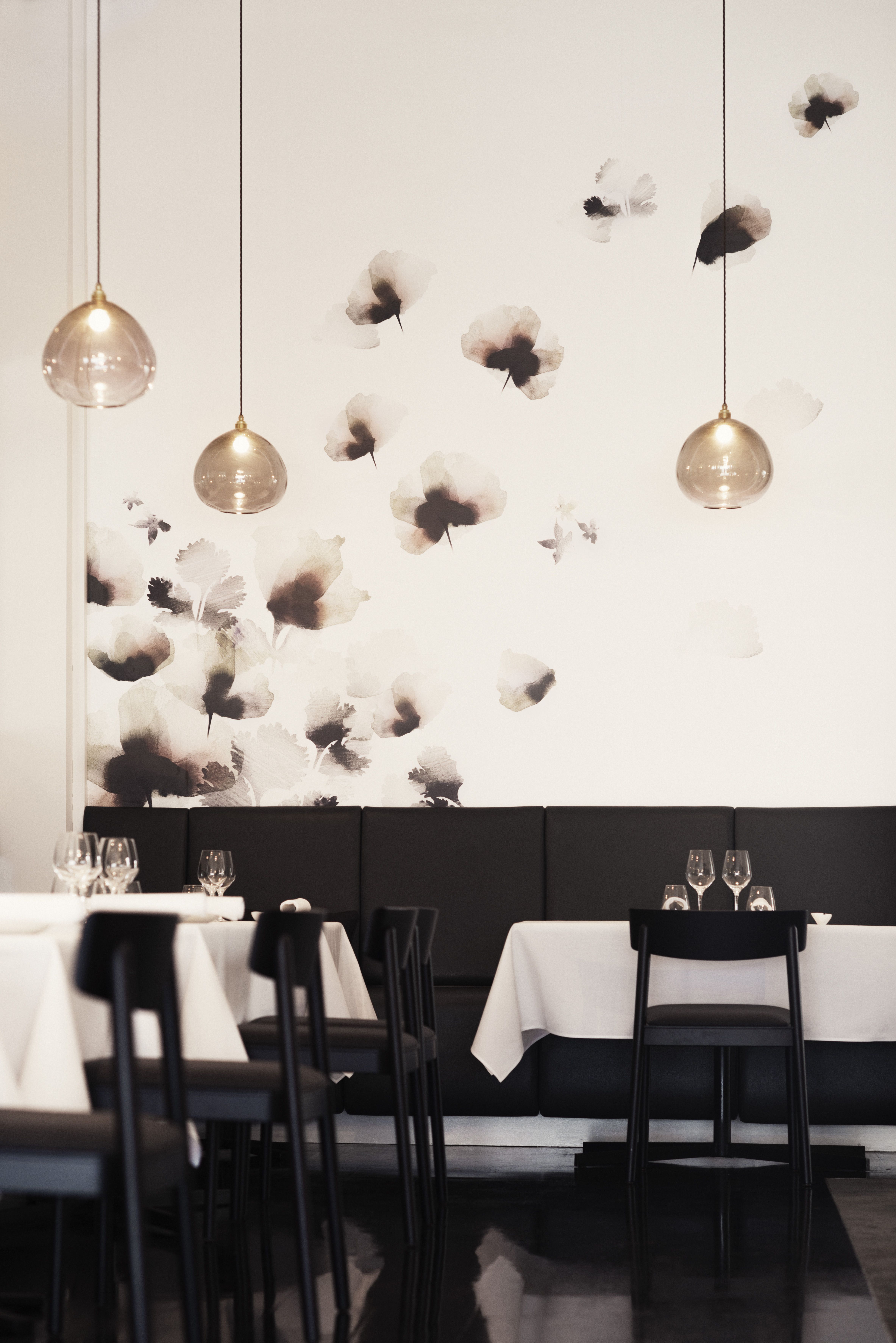 Emma Hayes We Created A Bespoke Wallpaper For The French Cafe