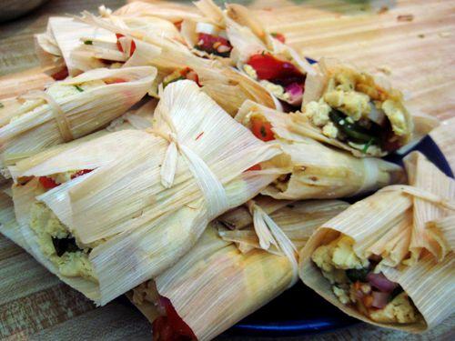 how to make vegetarian tamales