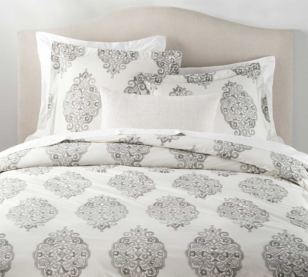 Asher Organic Sham Euro Gray At Pottery Barn Duvet Covers Luxury Bedding Sets Luxury Bedding
