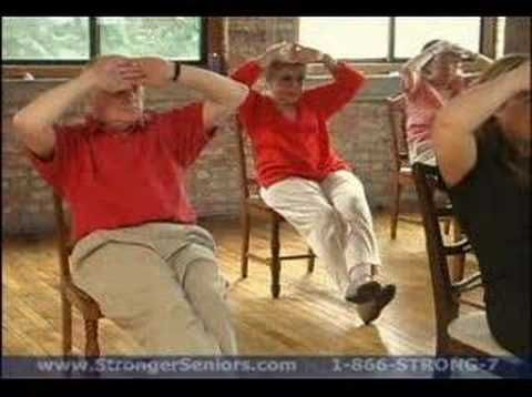 stronger seniors chair exercise program  yoga con silla