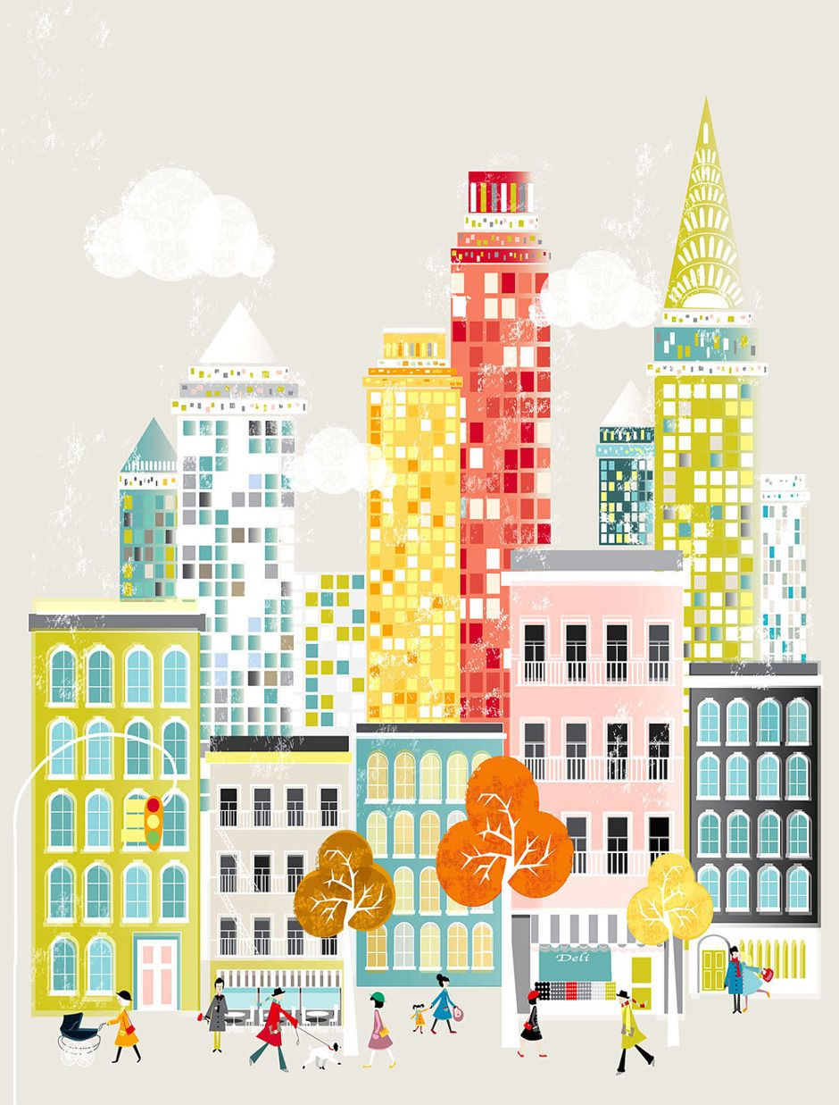New York City Print Skyline, Wall Art Prints Paper Poster, Cityscape ...