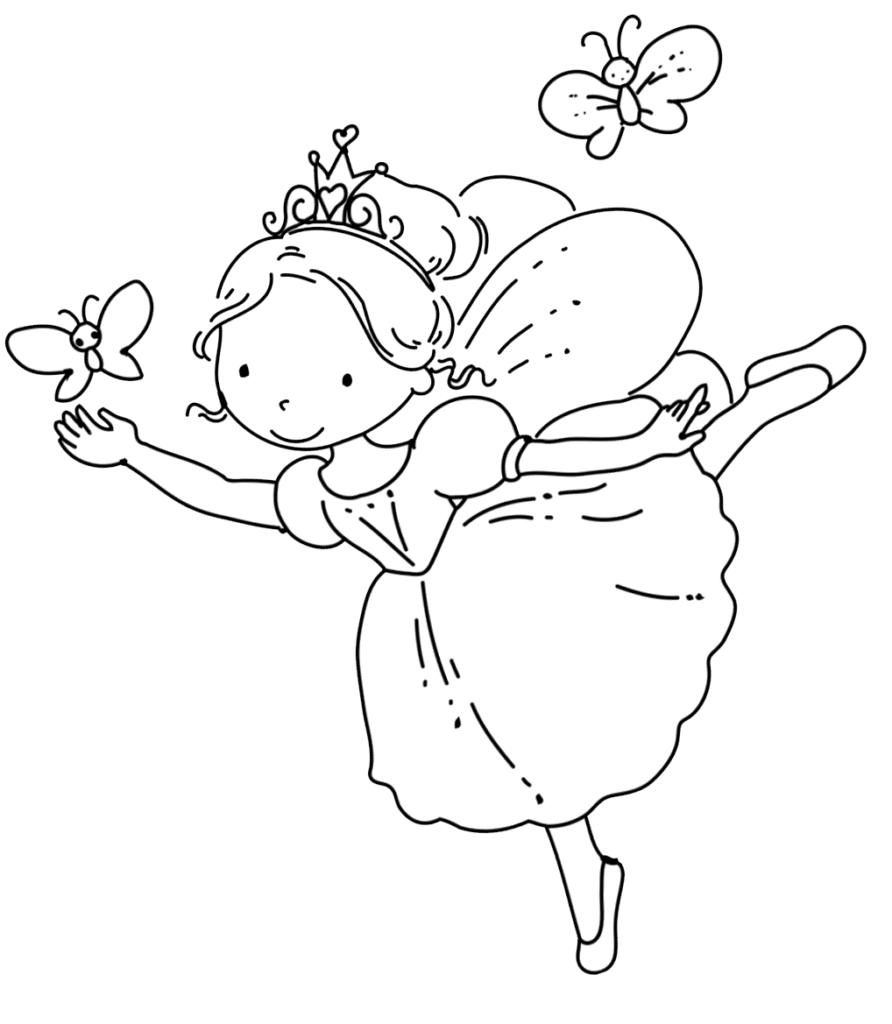 Fairy Coloring Pages | Fairy coloring pages, Fairy ...