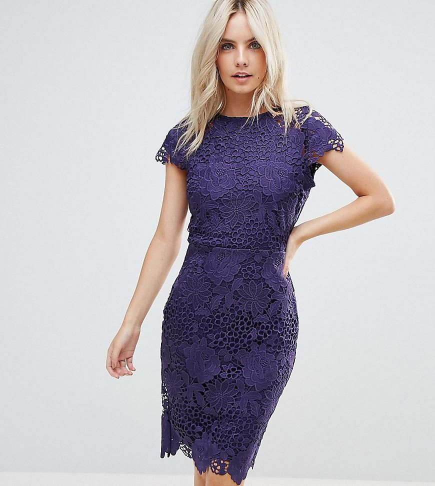 ASOS - #Paper Dolls Petite Paper Dolls Petite Cap Sleeve Lace Dress ...