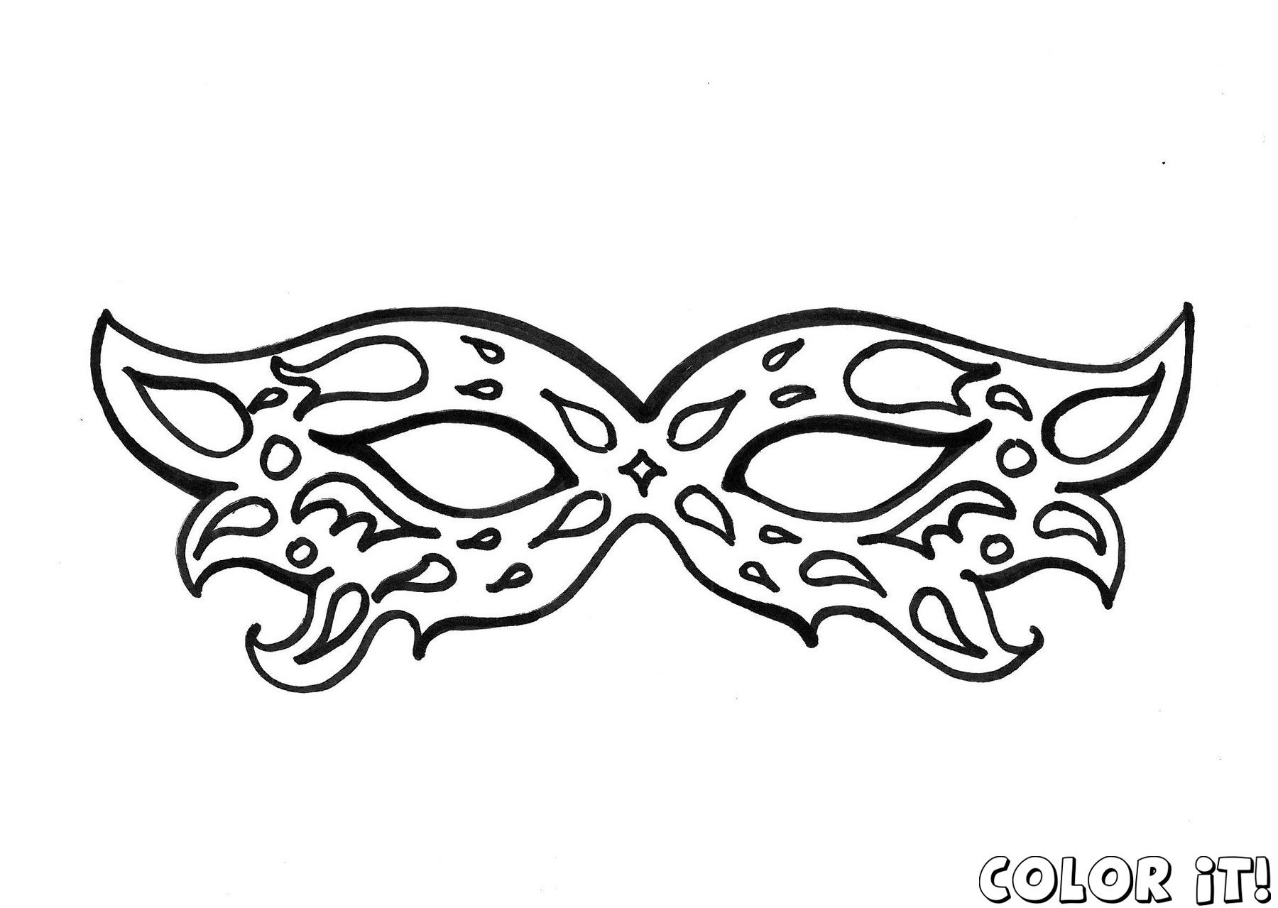 free mask coloring pages with carnival mask coloring pages