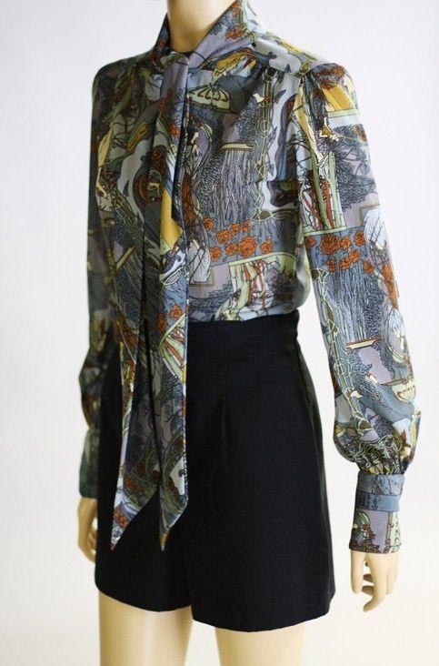 Floral Vintage Blouse Pattern Vintage Blouse Pattern Blouse Vintage Clothes