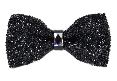 Crystal Black Bow Tie Black Bow Tie Ties Mens Fashion Black Tie